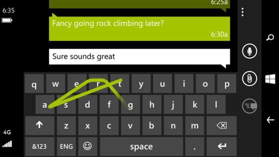 овата Word Flow клавиатура в Windows Phone 8.1